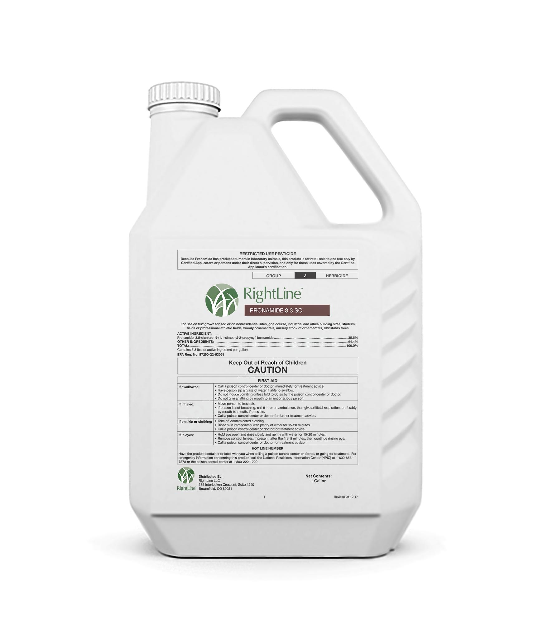 rightline pronamide 3.3 sc herbicide