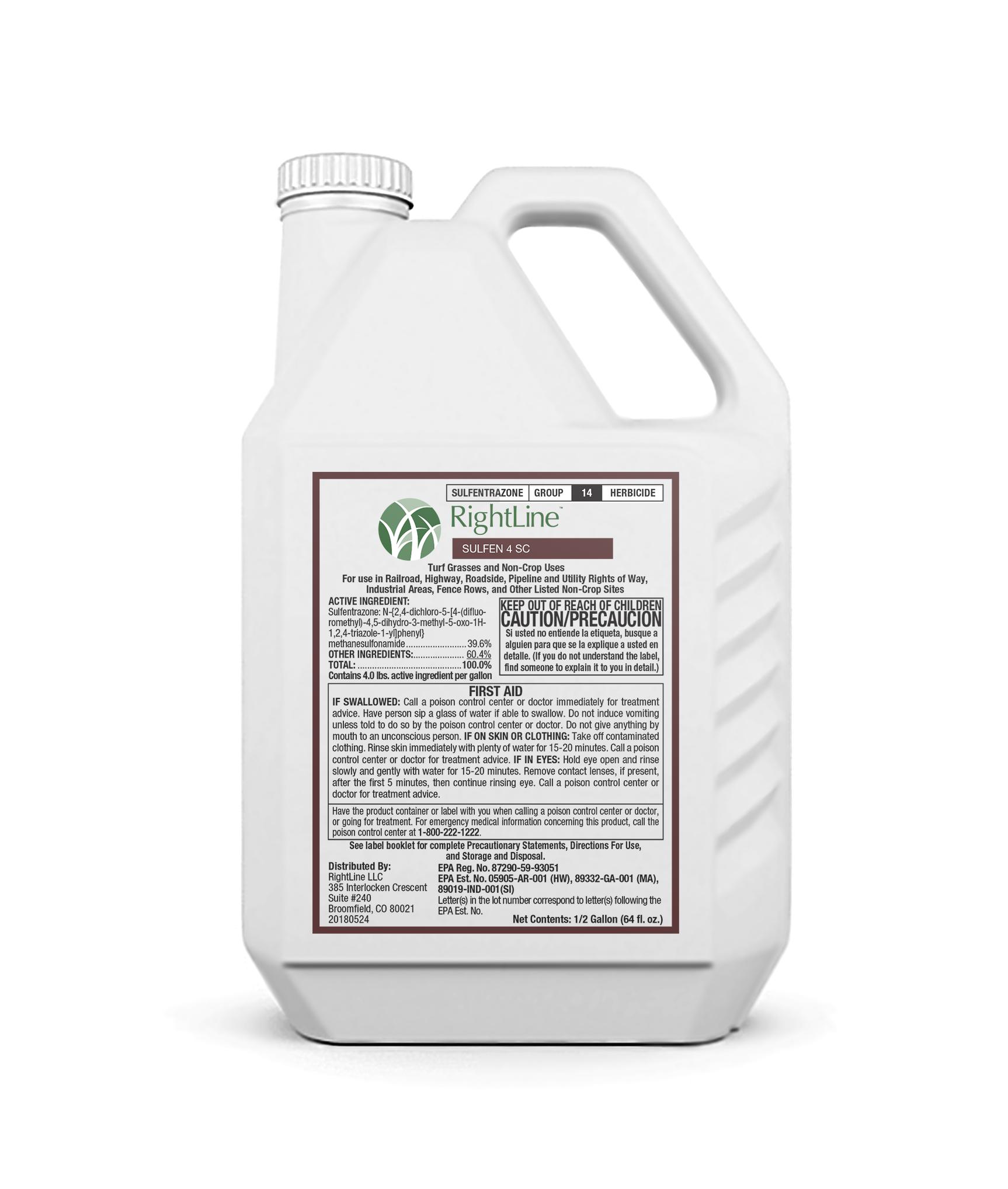 rightline SULFEN 4 SC herbicide