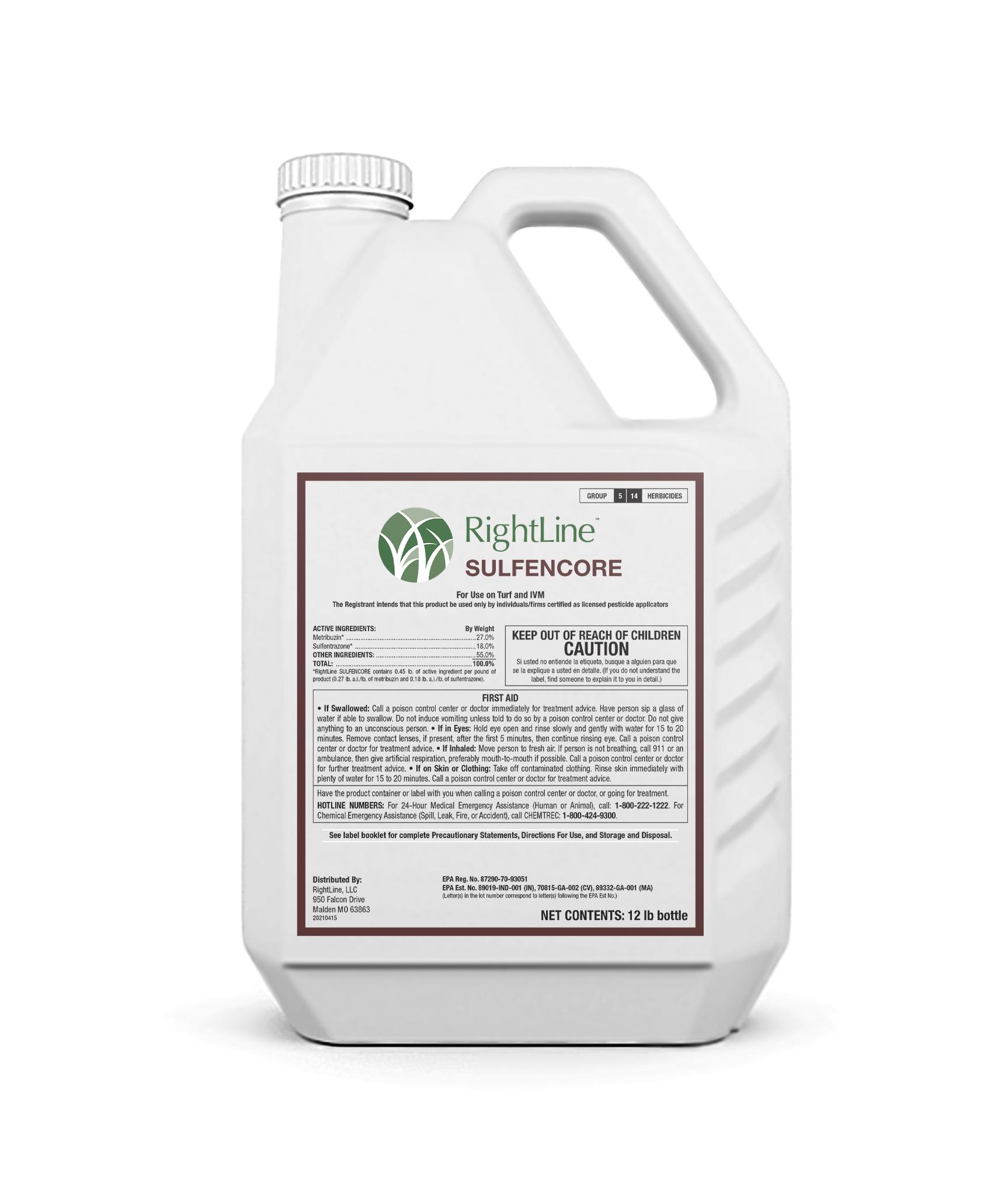rightline SULFENCORE herbicide